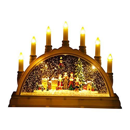 ZY * Europäisches Weihnachtsmusik-Brücken-Nachtlicht führte einfache kreative elektronische Verzierungs-Geburtstags-Geschenk-Wohnzimmer-Schlafzimmer-Bedside-Studie Porch-Villa-Befestigung 220 / 240W A