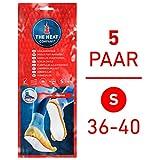 The HEAT company Semelles Chauffantes adhésives 8 heures de chaleur;: taille: SMALL, 36–40:, 5 paires