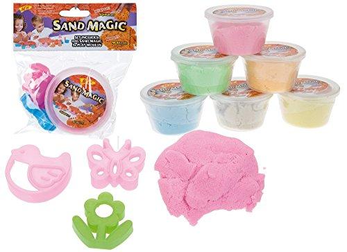 Preisvergleich Produktbild 80 g magischer Sand und 3 Mini-Förmchen (1 Becher)
