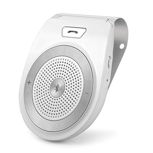 Aigital Freisprecheinrichtung Car-Kit V4.1 Bluetooth Freisprechanlage Auto Lautspreche Musik Empfänger Bau in Mic Pair Zwei Gerät für iPhone 7 Plus 6 6S 6 Plus 5S 5C 5 4S, HTC Samsung,und andere Android Geräte