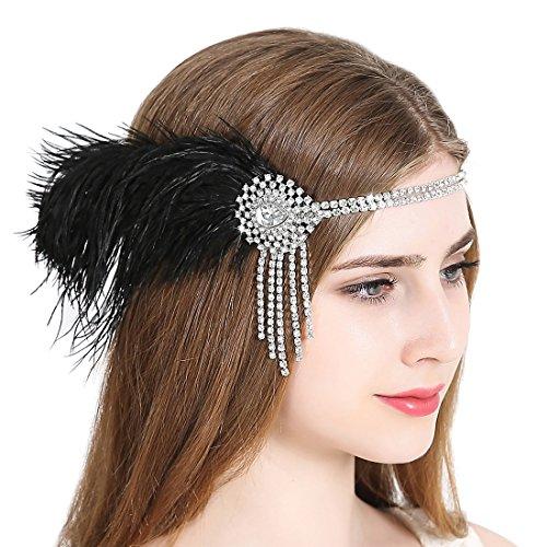 JaosWish 1920er Jahrgang Flapper Stirnband Art Deco Gatsby -
