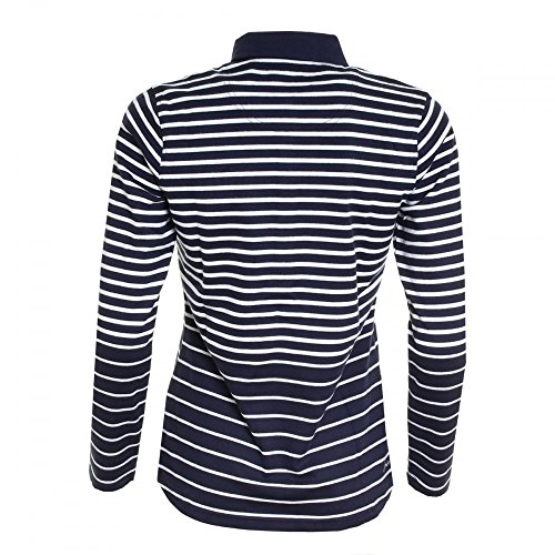 Joules Blaise Longues Manches Chemise Polo (v) French Navy Stripe