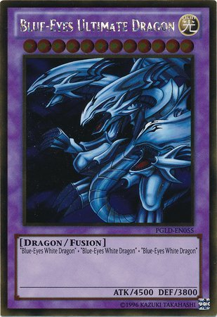 YuGiOh : PGLD-EN055 Blue-Eyes Ultimate Dragon Gold Rare Card - (Premium Gold Series Yu-Gi-Oh! Single Card)