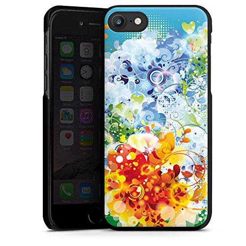 Apple iPhone X Silikon Hülle Case Schutzhülle Floral Muster Ranken Hard Case schwarz