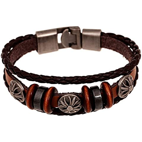 Wrone (TM) nuovi monili di modo di cristallo del metallo a mano braccialetti in rilievo Mar31
