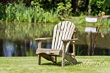 Murcia Solid Wood Outdoor Adirondack Chair Garden Patio Wooden Rocker Rocking Furniture (Chair) - 10 Year warranty against rot