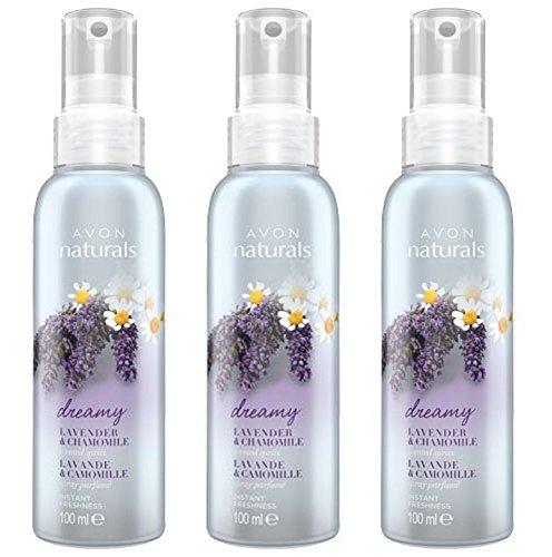 Scopri offerta per 3x spray profumati Avon Naturals, lavanda e camomilla, 100ml