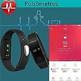 Willful Fitness Tracker Pulsera Inteligente Monitor de Pulso Cardiaco Bluetooth Pulsera Inteligente Deporte Actividad Tracker con Contador de Calorias/Monitor de Sueño/Contador de Pasos/Reloj,Compatible con iOS, Android Smartphone Soporta Llamada Mensaje