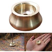 Hosaire Incensario Soporte para quemadores de incienso Censer Bowl para varillas de incienso Brass Buddha incienso quemador Home Fragancia Accessories