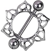 Anillo del vientre - TOOGOO(R)Anillo de ombligo de diamante de estras de flor
