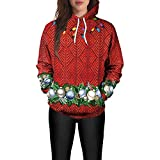 TWBB Damen Hoodie,Winter Mantel Weihnachten Laterne Drucken Slim-Fit Pullover Sweatshirt Outwear