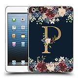 Head Case Designs Offizielle Nature Magick P Blumiger Monogramm Gold Navy 2 Soft Gel Hülle für iPad Mini 1 / Mini 2 / Mini 3