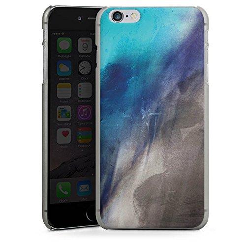 Apple iPhone X Silikon Hülle Case Schutzhülle Wasserfarbe Kunst Pinsel Hard Case anthrazit-klar