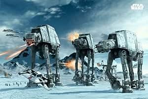 Bataille sur la Planète Hoth Star Wars Poster Grand Format 61 x 91.5 cm