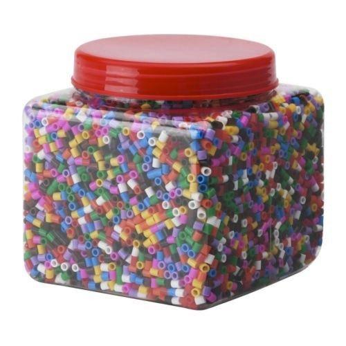 ikea pyssla - perle da stirare, 14,000 perline con piastra, set di 4 multicolore