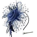 Xmiral Damen Stirnband Blume Mesh Ribbons Federn Abend Cocktail Tea Party Hut Headwear Für Frauen