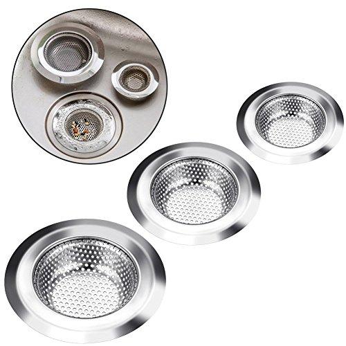 sink-strainer-gegestyle-3-pieces-stainless-steel-kitchen-waste-plug-drain-protector-kitchen-sink-wat