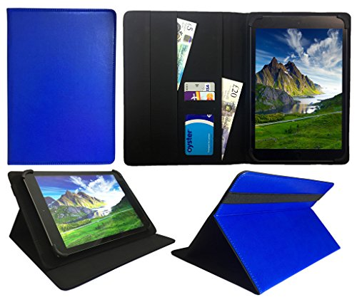 HKC One Thor M104Y 10.1 inch Tablet Blau Universal Wallet Schutzhülle Folio ( 10 - 11 zoll ) von Sweet Tech