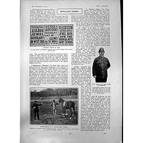 Impresión Antigua de la Silla De Montar Importante James Braid1903 de la Prueba de la Bala de Lamberto de la PC de los Campos Comunes de la Casa