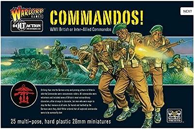 28mm WW2 British Commandos 25 Figures en plastique - Bolt Action Wargaming Miniatures - Royal Marines
