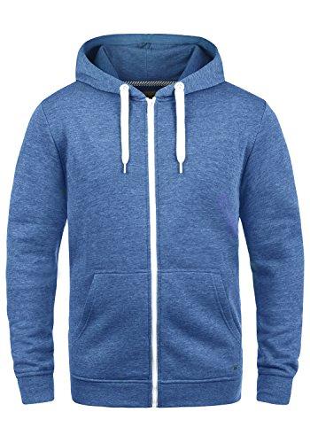 Zip Hoodie Jacke (SOLID Olli Herren Sweatjacke Kapuzen-Jacke Zip-Hoodie aus hochwertiger Baumwollmischung, Größe:L, Farbe:Faded Blue Melange (1542M))