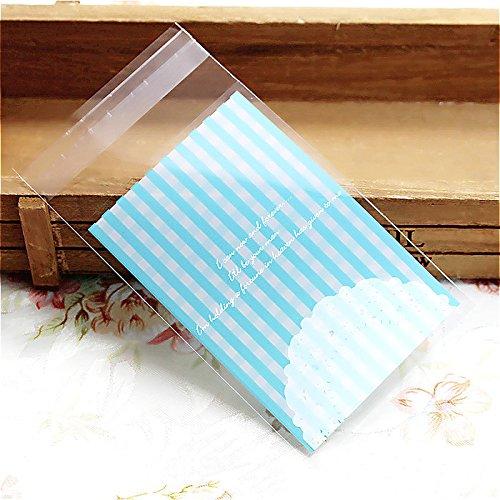 en 100 Stücke Selbstklebender Klebstoff Plastiktüten Paket-Tools Für Süßigkeiten Lebensmittelecht (Weiß Behandeln Taschen)