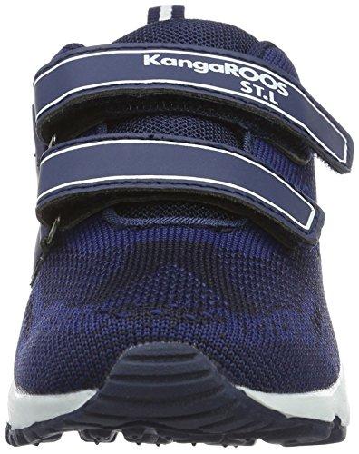 KangaROOS Kanga S, chaussons d'intérieur mixte enfant Blau (Dk Navy/White)