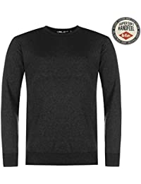 Lee Cooper Hommes Crew Tricote Jumper Pull Top Haut Col Rond Manche Longue