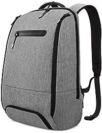REYLEO Mochila Portátil Impermeable Backpack para Ordenador hasta 15,6 Pulgadas con Varios Compartimentos del Casual Deporte Viaje Trabajo - 20L Gris RB06