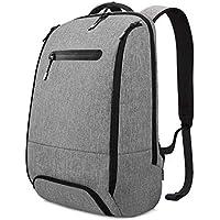 REYLEO Mochila Port¨¢til Impermeable Backpack para Ordenador hasta 15,6 Pulgadas con Varios Compartimentos del Casual Deporte Viaje Trabajo - 20L Gris RB06