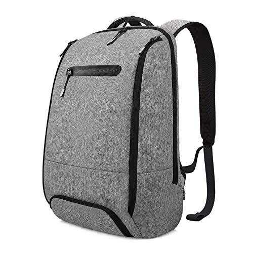 REYLEO Laptop Rucksack Leichtgewichtiger 15.6 Zoll Wasserabweisende Laptoptasche für Alltag Stadt Business Grau RB06
