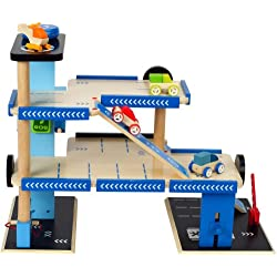 Hape International E3005 - Garaje de Madera 'City Parking'