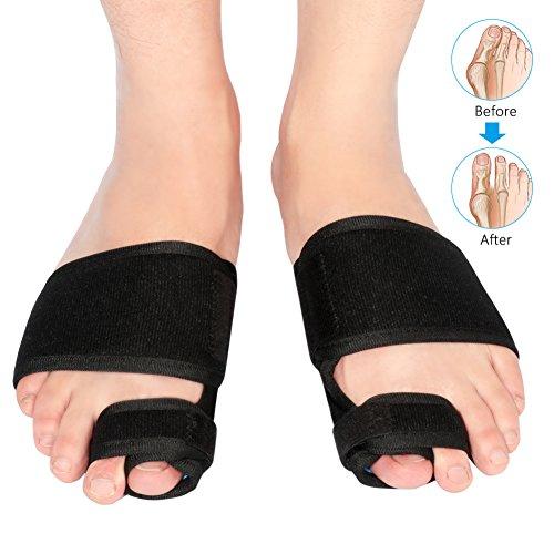 Zehe Korrektor 1 Paar--Inofia Zehenspreizer Unixes Orthopedic Bunion Toe Straighteners mit verstellbarem Klettverschluss, Zehen Separator Korrektur lindern die Schmerzen von Hallux Valgus Hammerzehen