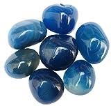 Jaanvi Granites Onyx Pebbles(Blue, 1kg)