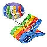 Sungpunet große Wäscheklammern aus Kunststoff, windsicher, 4Stück