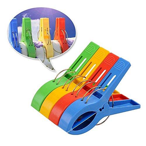 sungpunet 4Big Kunststoff winddicht Kleidung Aufhängen Knöpfen beddable Quilt Tabelle Clip Racks Wäscheklammern
