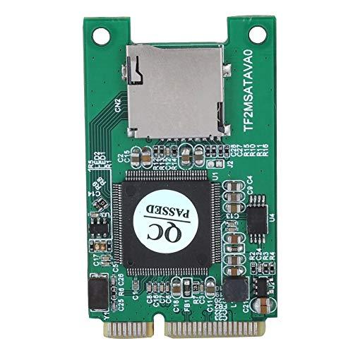 Tonysa Micro SD TF Karte zu Mini PCI-E mSATA SSD Adapter Konverter,Netzwerkkarte,Mini PCI E Msata Riser Karte für Laptop/Embedded Computer,Kompatibel mit Windows/Linux Embedded Linux Controller