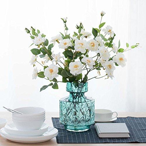 American Embossed Glass Vase/living Room Floor Flower Arranging Device-e