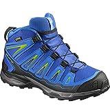 Salomon X-Ultra Mid GTX J, Stivali da Escursionismo Unisex-Bambini, Blu (Blue Yonder/Bright Blue/Granny Gree 000), 36 EU