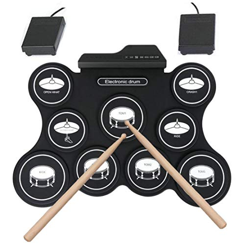 Batería Electrónica Drum Kit Silicona USB G4009 Plegable Drum Pad Instrumentos De Música Con...