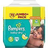 Pampers Baby-Dry Größe 5,11-23 kg Jumbo Plus Pack, 2er Pack (2 x 72 Stück)