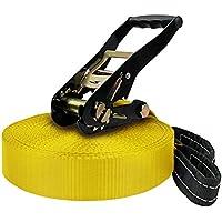 BB Sport Slackline 25 m (cargas hasta 3 toneladas), Color:amarillo