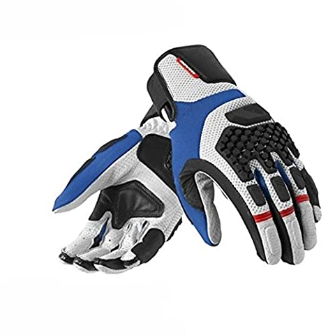 FGS079 - 4030-XYL - Rev It Sand Pro Motorcycle Gloves XYL Silver/Blue