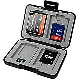 7dayshop Étui de rangement pour carte mémoire SD, SDHC, SDXC, microSD, microSDHC, microSDXC, Compact Flash Noir