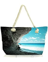 Snoogg Beach Side Place Women Anchor Messenger Handbag Shoulder Bag Lady Tote Beach Bags Blue