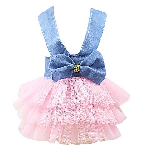 VENMO Bubble Rock Cowboy Kleid Hund Kleid für Hund Spitzenkleid Prinzessinnen-Kleid für Haustiere, mit Blase Rock Leiste mit Tutu, Hundepullover Hunde Kleider welpen Mantel
