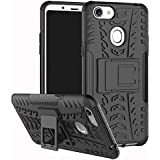 Anvika OPPO F5 Back Cover, Protective Heavy Duty Dual Layer KickStand Back Cover Case For OPPO F5 - Black