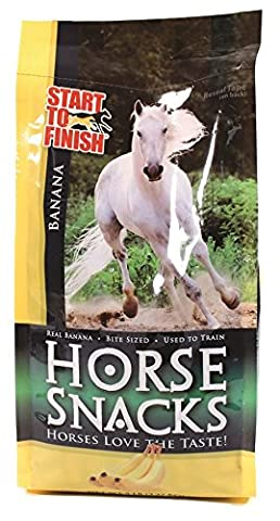 Start to Finish Banana Flavor Horse Snacks Treat Chelated Minerals 5lbs Bag