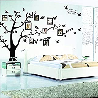 TONVER Huge Family Tree Photo Frame Wall Decals Removable Wall Decor Decorative Painting Supplies Wall Treatments Stickers for Living Room Bedroom