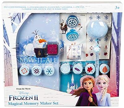 Disney Frozen 2 Material Escolar Niña con Princesas Anna y Elsa, Set de Papeleria Incluye Diario para Escribir Pegatinas Frozen y Bolígrafo Mágico, Regalos Frozen para Niñas Niños de Sambro